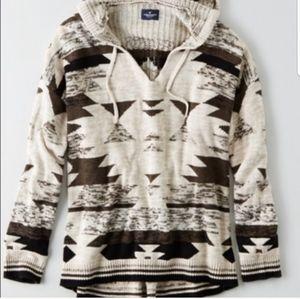 American Eagle Tribal Baja hooded sweater